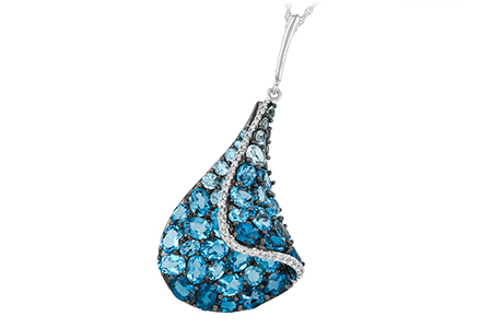 L187-86401: NECK 4.81 BLUE TOPAZ 4.94 TGW