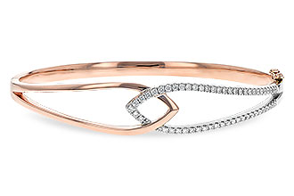 A189-70984: BANGLE BRACELET .50 TW (ROSE & WG)